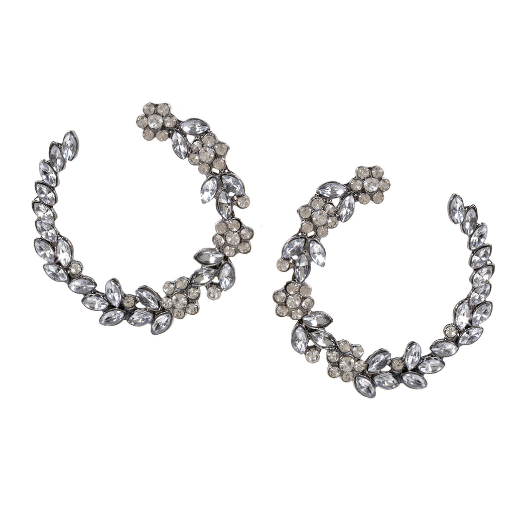 Open Wreath Crystal Earring