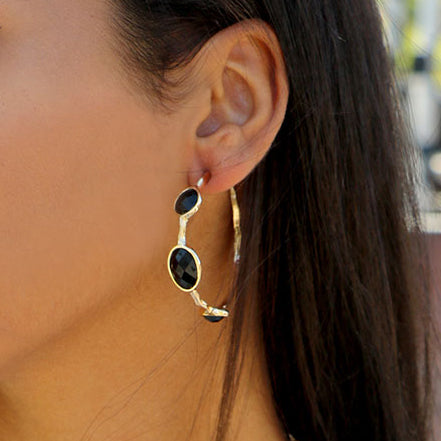Jet Black Earring