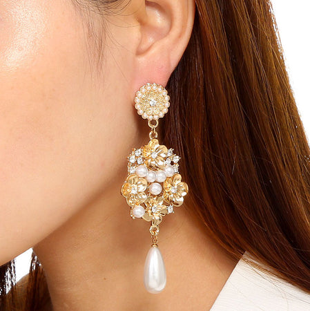 Floral Pearl Earring