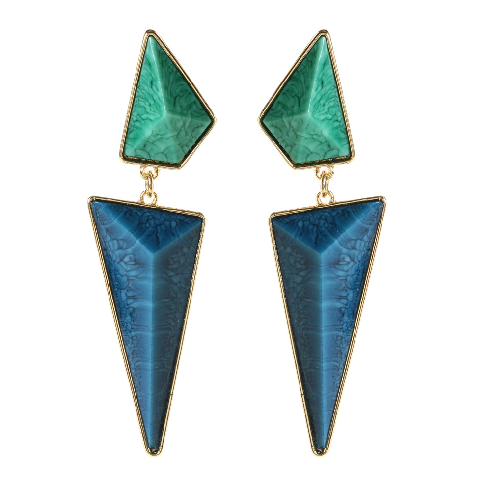 Turquoise/Lapis Earring