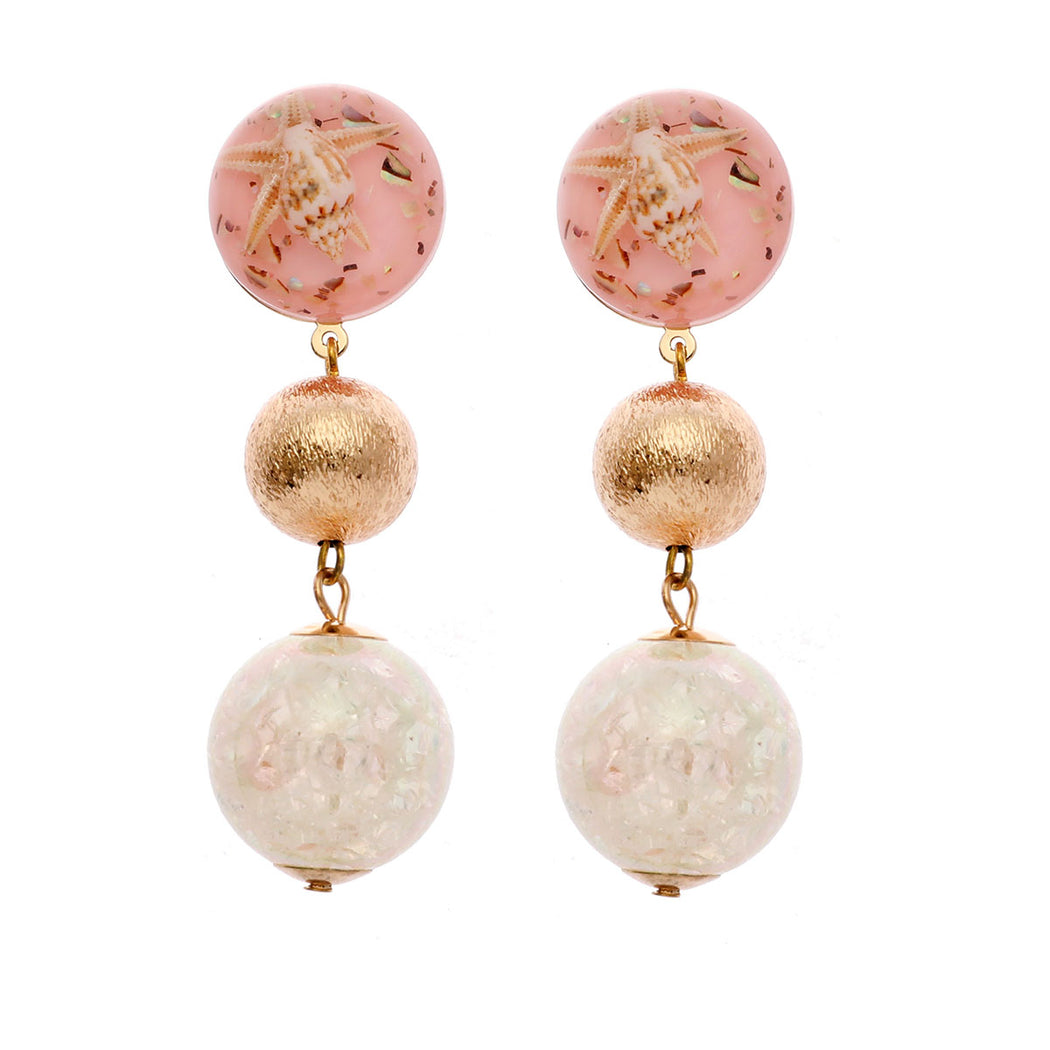 Beachy Ball Drop Earring