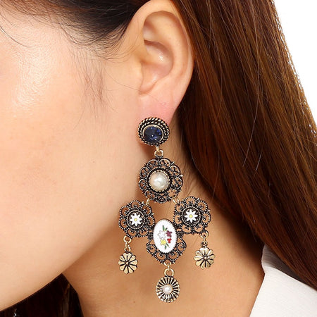 Floral Charm Earring
