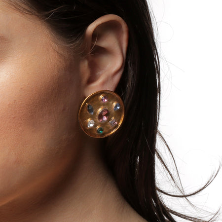 Carolina Button Earrings