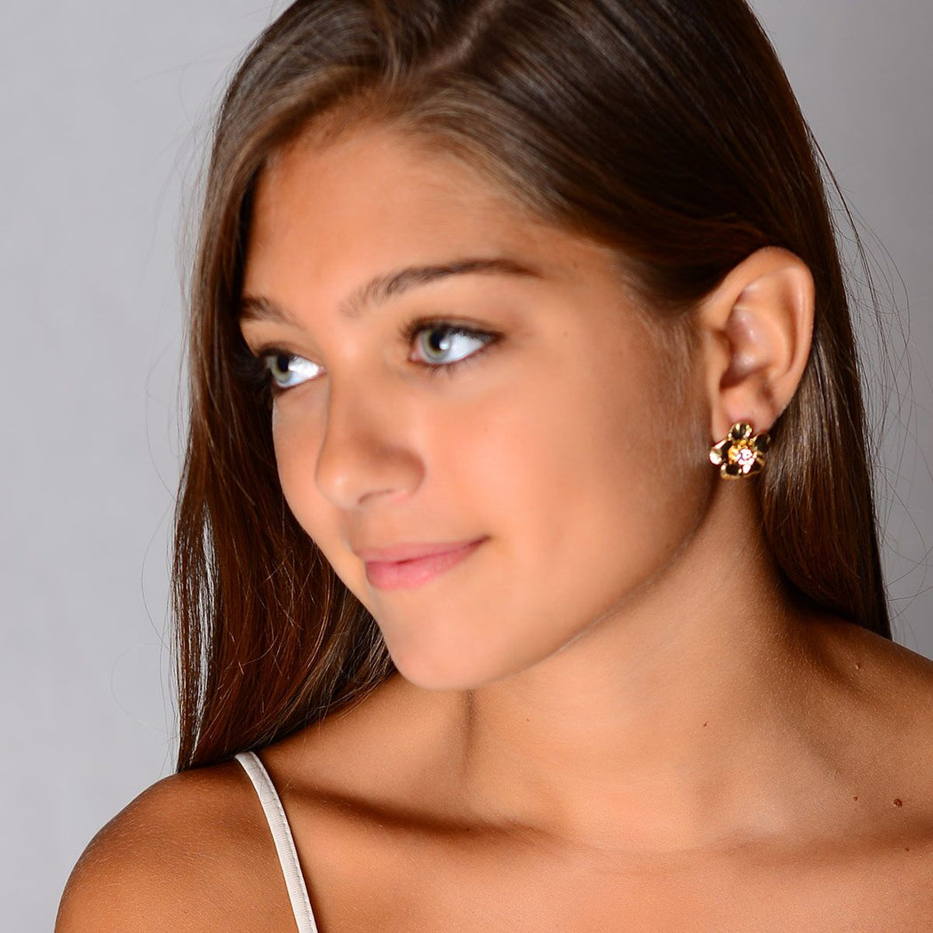 Gold/Clear Earring