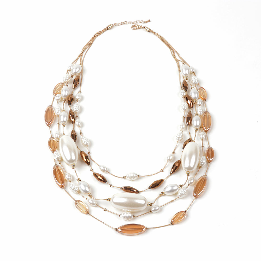 Fiona Beaded Pearl Necklace