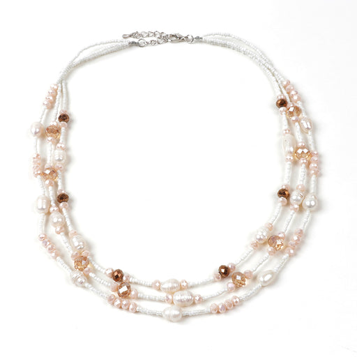 Avery Seedbead and Pearl Necklace