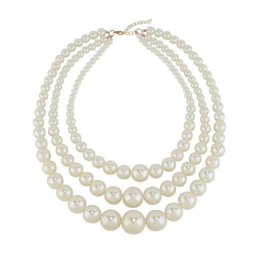 Multi row Pearl Necklace