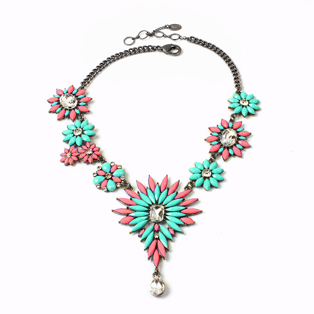 Light Coral/Turq Necklace