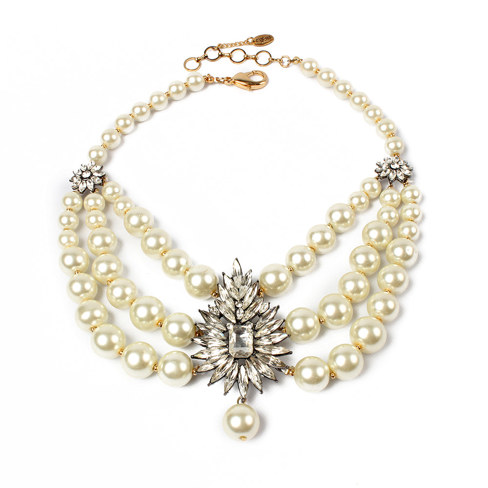 Pearl/Clear Necklace