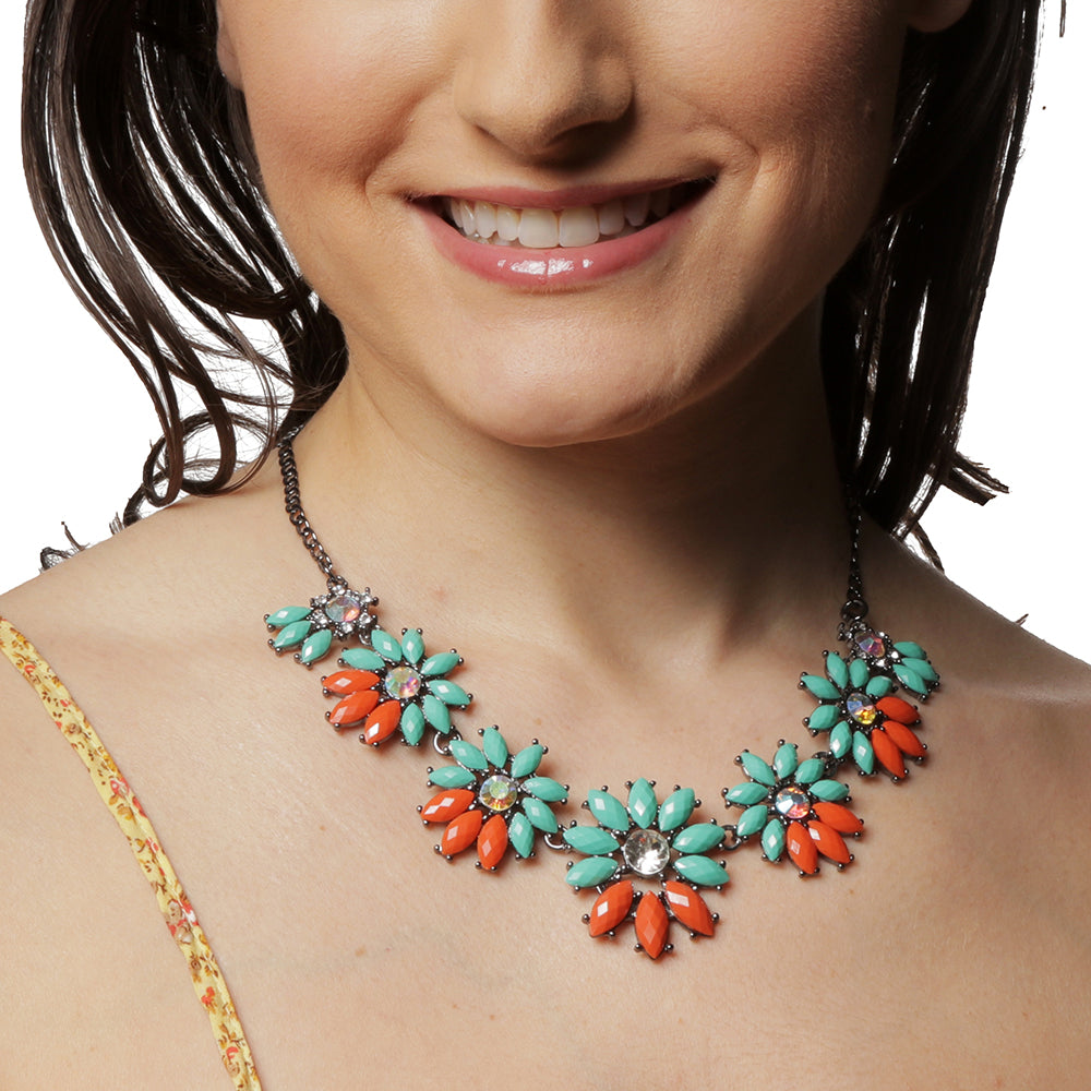 Turq/Coral Necklace