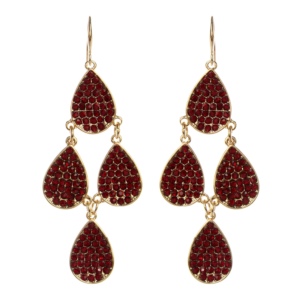 Gold/Ruby Earring