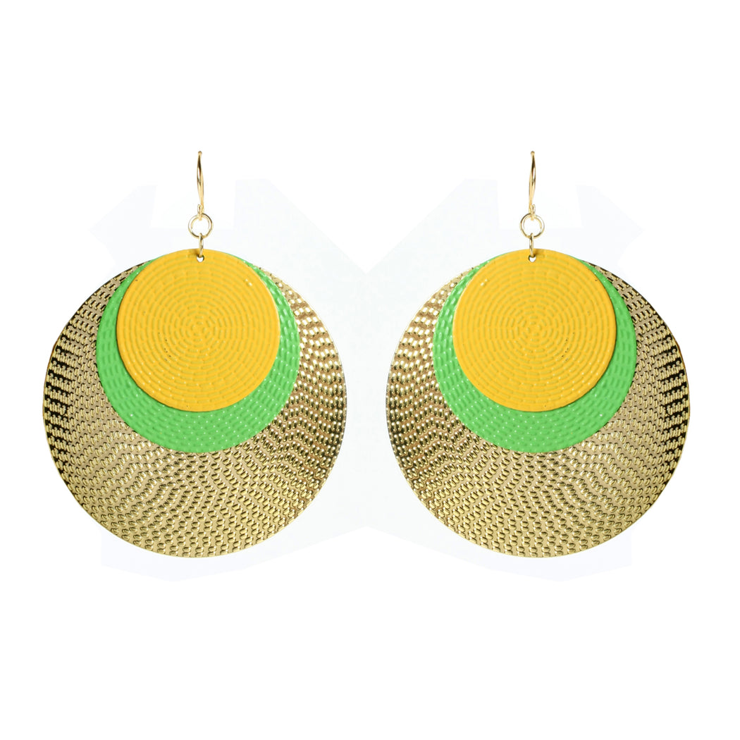 Green/Yellow Earring