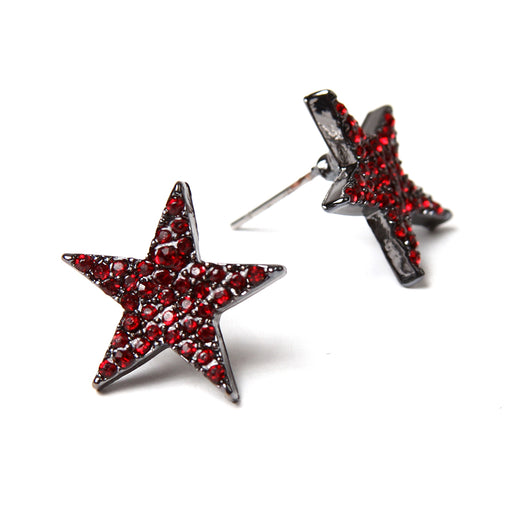 Ruby/Gunmetal Earring