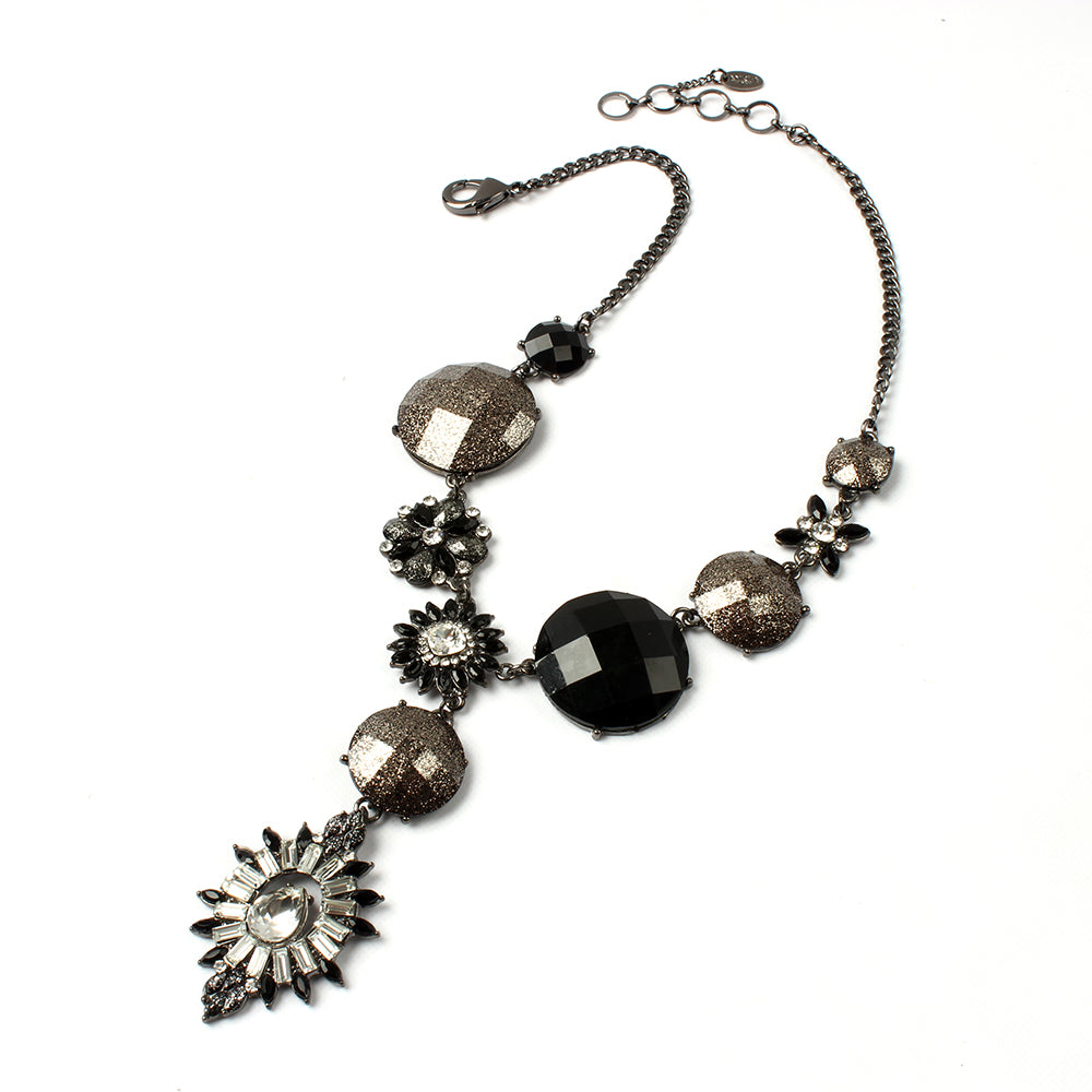 Gunmetal/Black Necklace