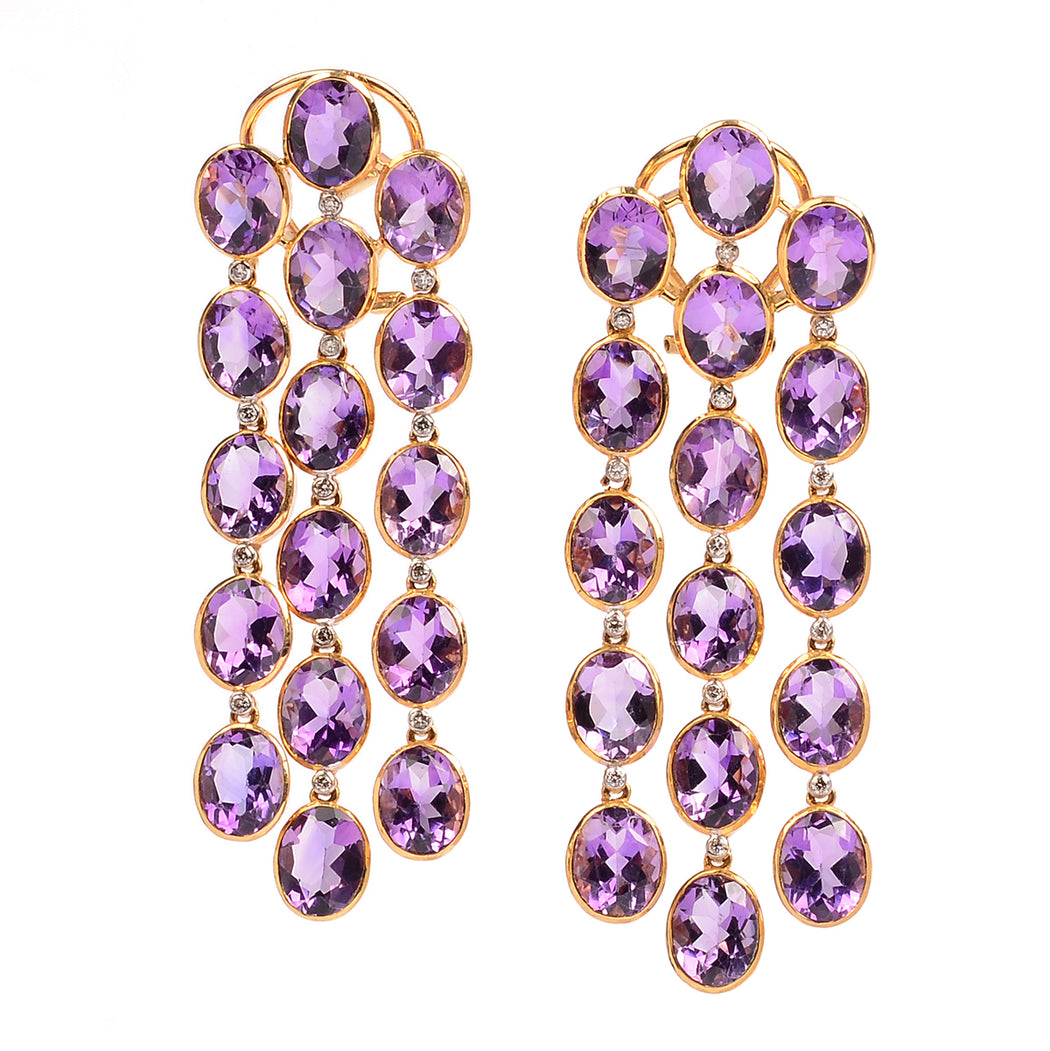 14k gold amethyst earrings