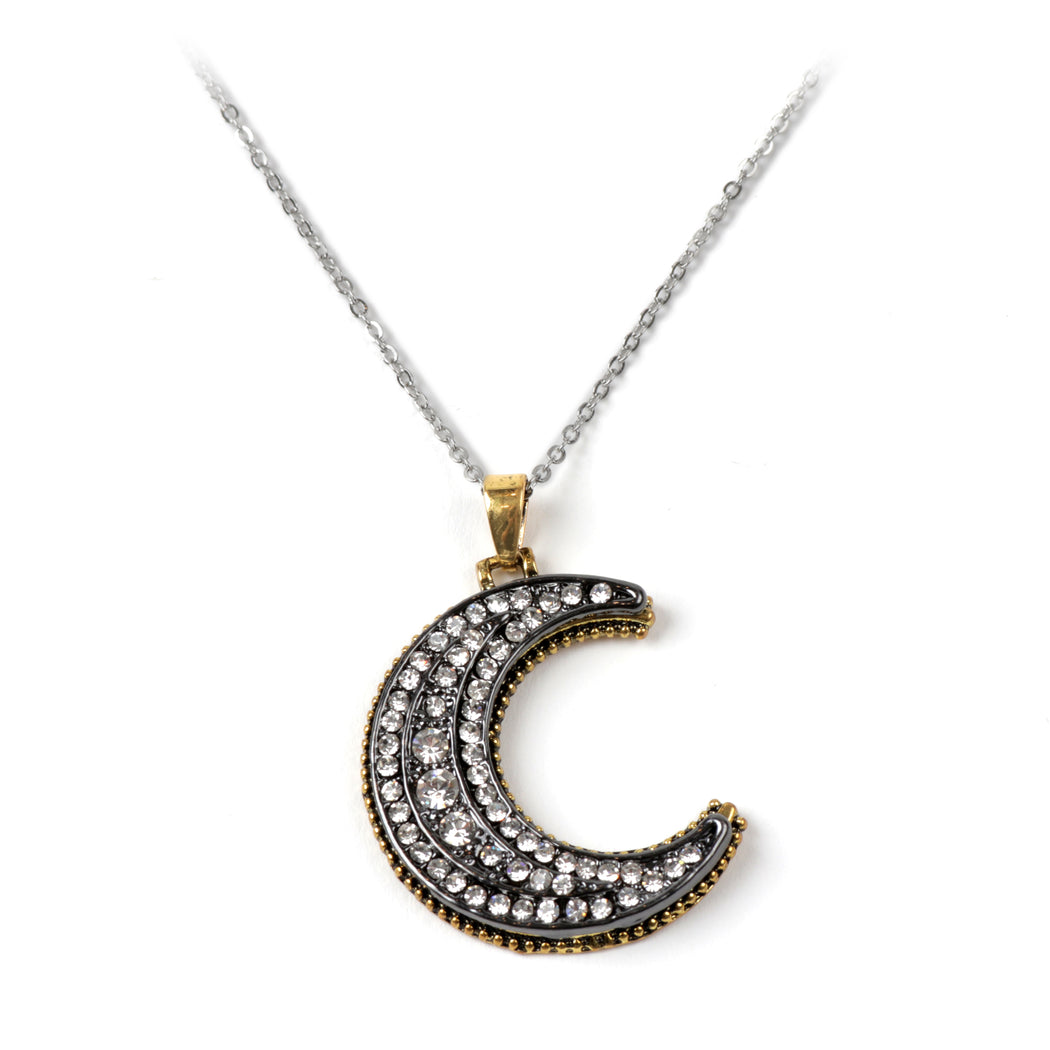 Half-Moon Pendant Necklace