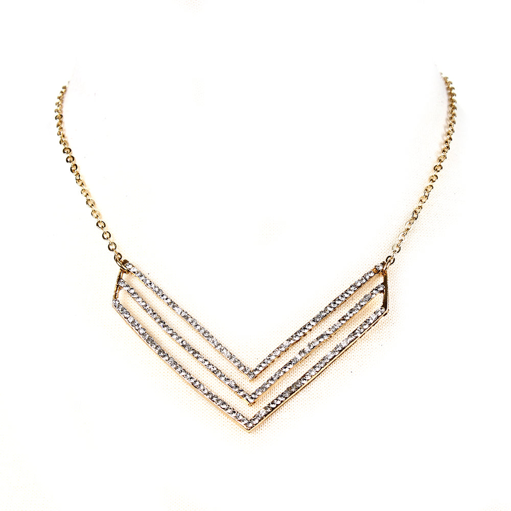 Gold/Clear Necklace