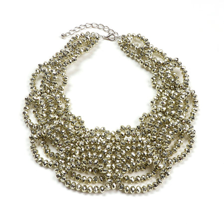 Disco Bib Necklace