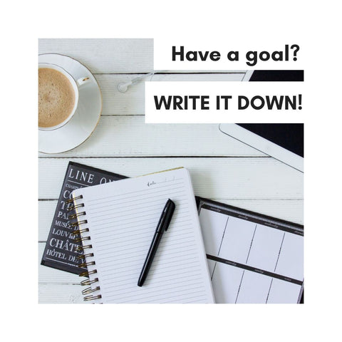 Have a goal? Write it down!