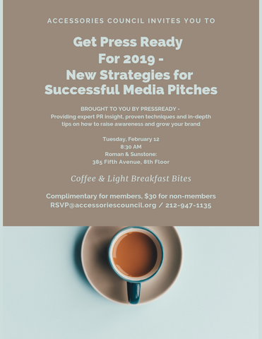 You're Invited: PressReady + The Accessories Council NYC Event