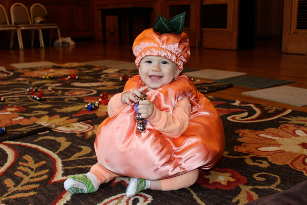 georgias 1st halloween our georgia peach she was 9 months old