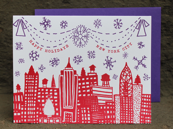 Happy Holidays New York City - Single Card