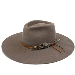 MONTANA wide brim fedora in fog grey