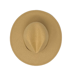 San Sebastian straw packable fedora natural