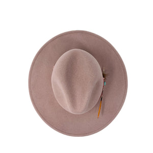 DALLAS FEDORA QUARTZ PINK with embroidery