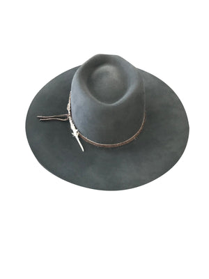 MONTANA FELT FEDORA WASHED BLACK
