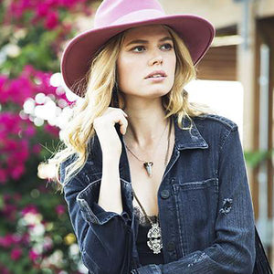 Dallas Fedora in Desert Rose by Lovely Bird