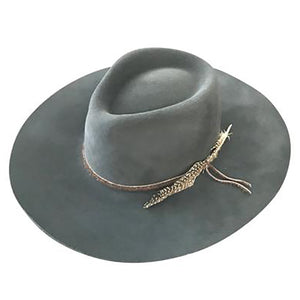 Montana Felt Fedora in Washed Black by Lovely Bird