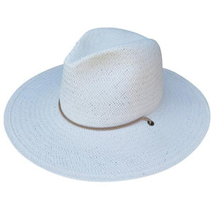 Sedona Straw Fedora White by Lovely Bird