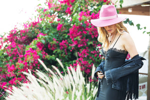 DALLAS FEDORA DESERT ROSE
