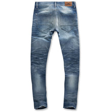 Load image into Gallery viewer, Jordan Craig Aged Wash Fused Shredded Denim Jeans (JM3373)