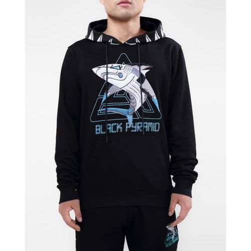 Black Pyramid Cyber Shark Black Hoodie