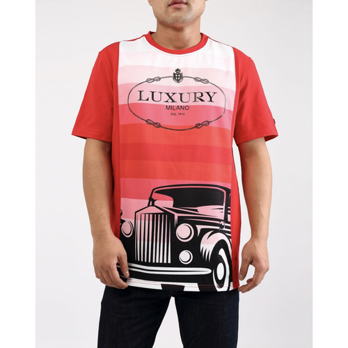 Hudson Luxury Milano Gradient Red Tee
