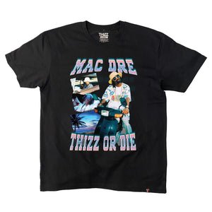 "Thizz ""Vintage Hawaii"" Black Tee"
