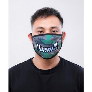 Black Pyramid Monster Bite Face Mask Olive Camo