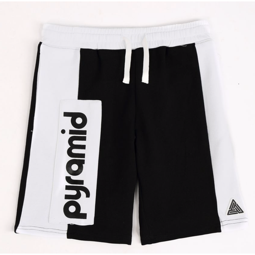 KIDS Black Pyramid Black Block Shorts