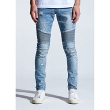 Load image into Gallery viewer, Embellish Blue Vintage Whitney Biker Jeans (EMBSUM20-101)