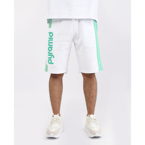 Black Pyramid Clean Block White Shorts