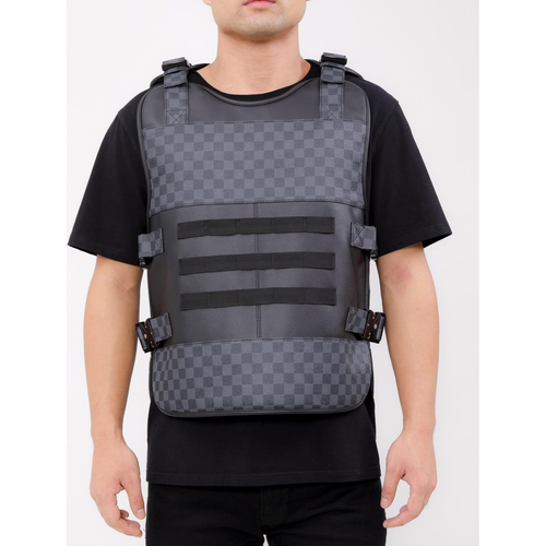 Hudson Black LUX Checkered Body Vest (H6052882-BLK-OS)