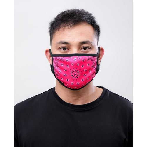 Hudson Solid Paisley Face Mask in Pink