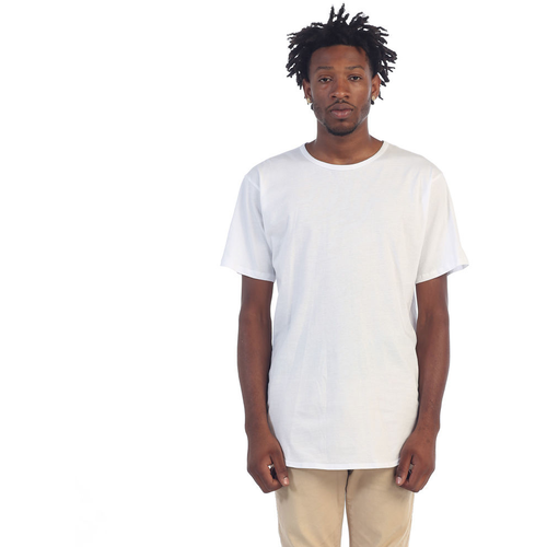EPTM Plain Long White Tees