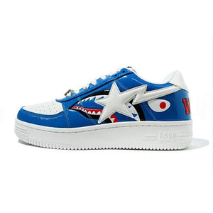 A Bathing Ape Bapesta Low - Color Block Shark Blue