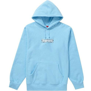 Supreme Bandana Box Logo Hooded Sweatshirt - Light Blue
