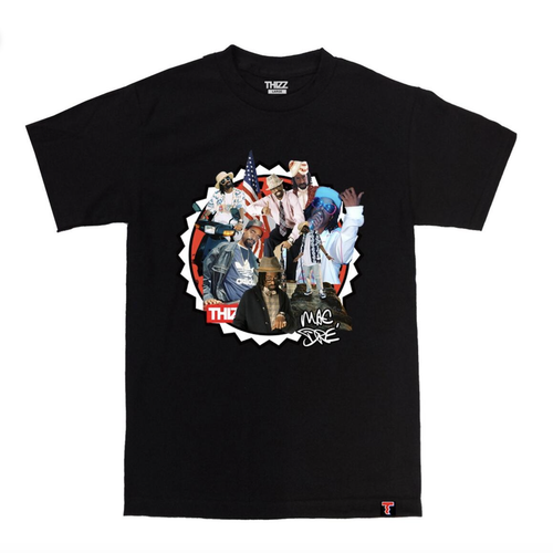 Thizz Nation Mac Dre COLLAGE tee in Black