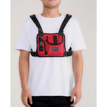 Load image into Gallery viewer, Hudson Red Dual Pocket Chest Rig Bag