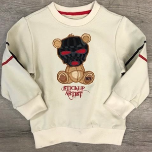 "Black Keys BKYS Kid's ""Stickup Artist"" OFF White  CrewNeck w/Twill Patch"